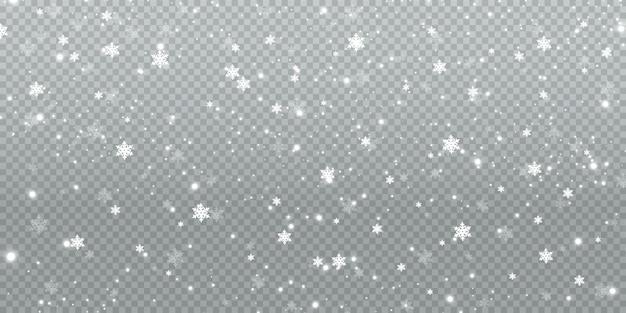 冬の降雪イラスト