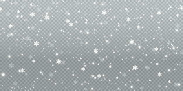 Зимний снегопад иллюстрация