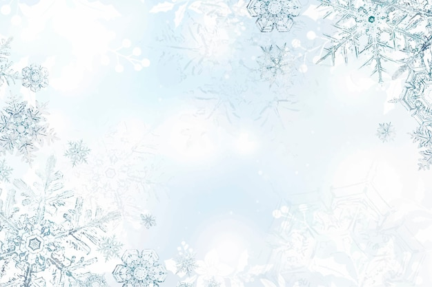 Зимний фон снежинки