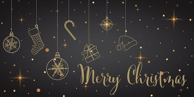 冬の雪の結晶の挨拶バナー黒の背景クリスマスの冬の紙のポスターテンプレート
