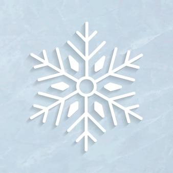 Simbolo del fiocco di neve invernale