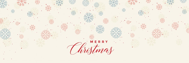 Winter snowflakes banner template for merry christmas