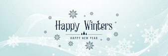 Winter snowflakes beautiful banner design