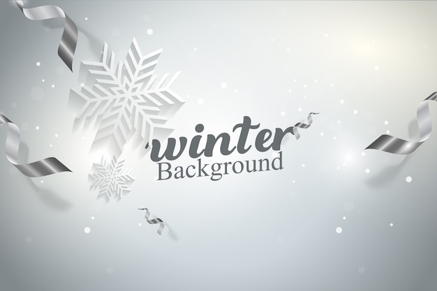 Winter snowflakes vector illustration background