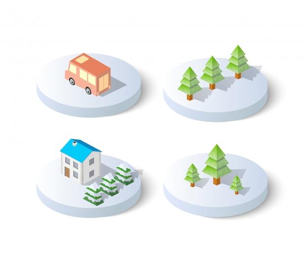 Winter snowy christmas icon