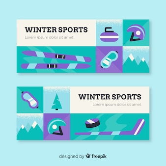 Winter sport banner template