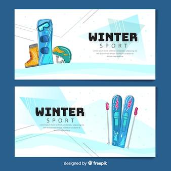 Зимние спортивные баннеры