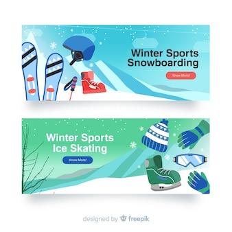 Winter sport banners