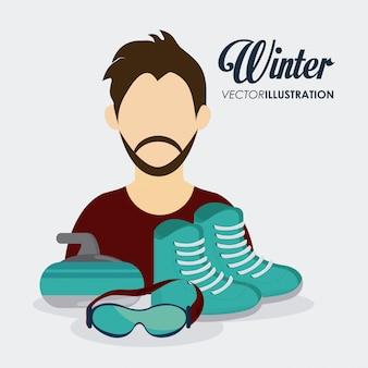 Winter sport design , vector illustration