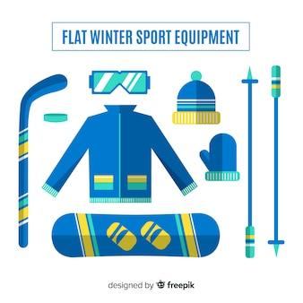 Winter sport equipment collection