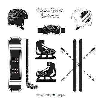 Winter sport equipment pack