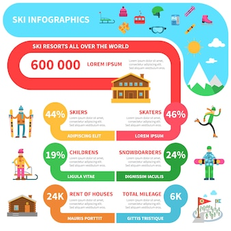 Winter sport infographics