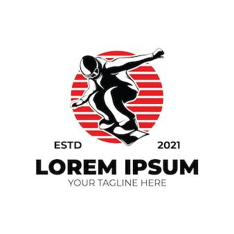 Зимний вид спорта. дизайн шаблона логотипа сноубординга