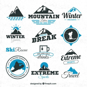 Winter sports badges