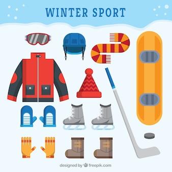 겨울 스포츠 의류 및 액세서리