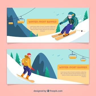 Зимние виды спорта с баннерами