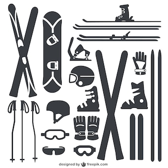 Inverno attrezzature sportive pacchetto