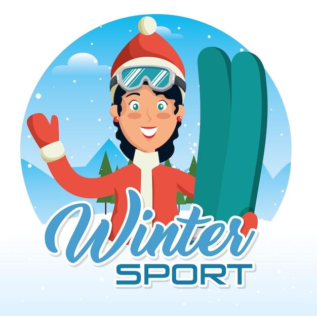 Winter sports pepople