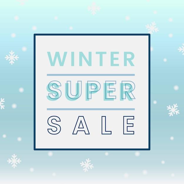 Winter super sale badge vector