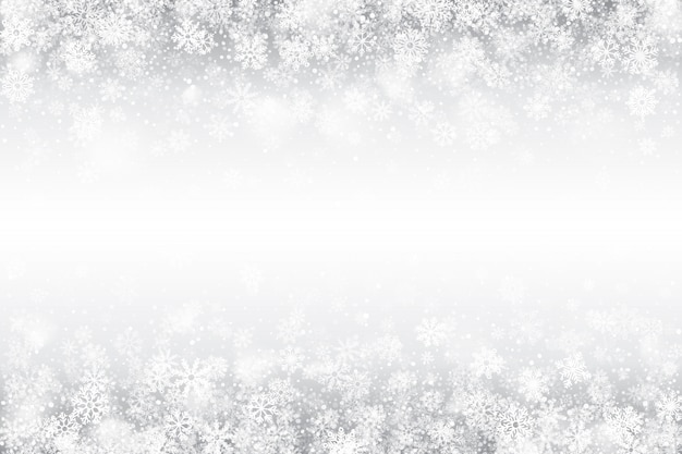 Winter swirling snow effect white background