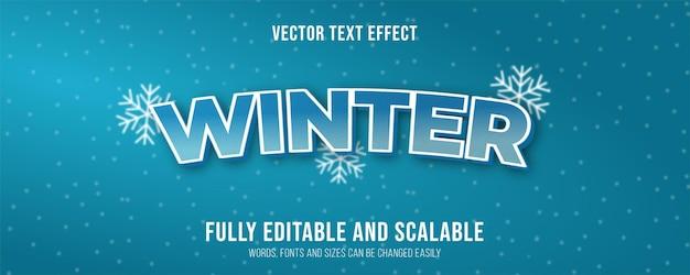 Winter text effect