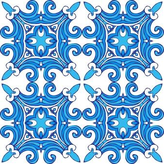 冬のタイル張りの抽象的なシームレスな装飾用ベクトルパターン生地