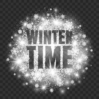 Winter time abstract illustration transparent background