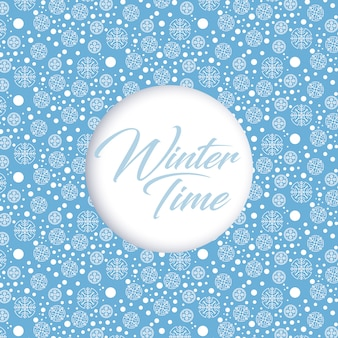Winter time background. snowflakes pattern