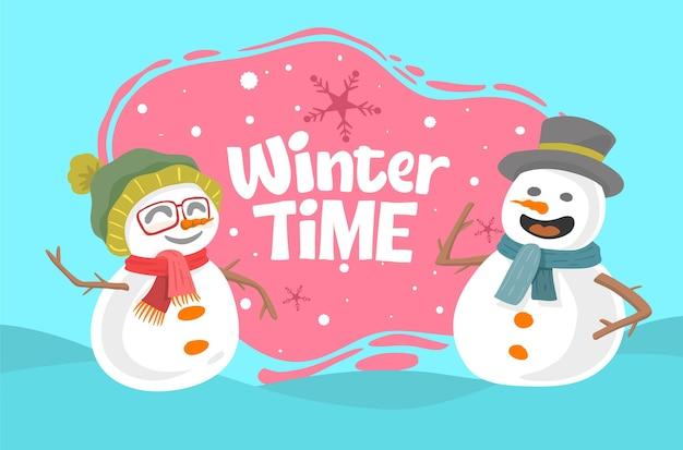 雪だるまと冬の時間の概念