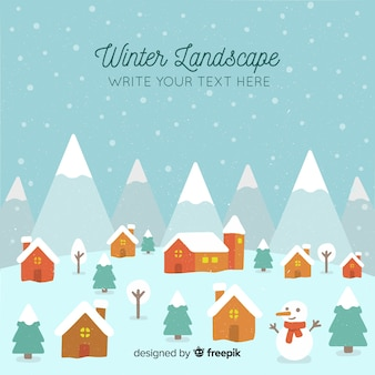 Winter town background template