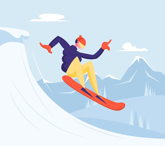 Winter vacation extreme sports activity and entertainment
