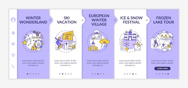 Winter vacation onboarding template