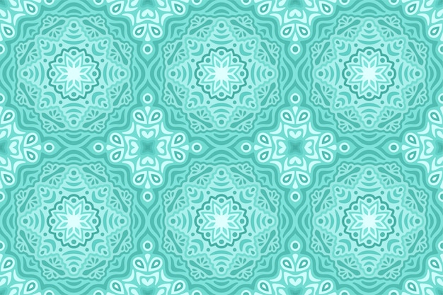Winter web background with blue seamless pattern