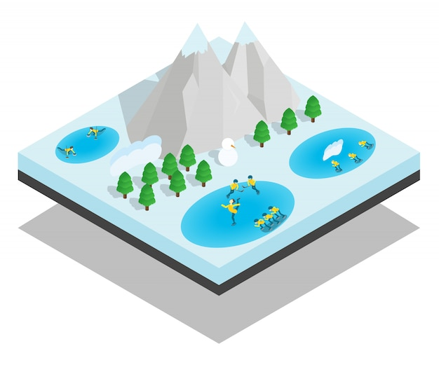 Wintersport концептуальная сцена