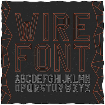 Wirefont sul nero