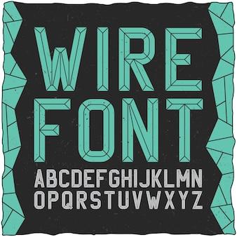 Wirefont on black