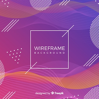 Wireframe background