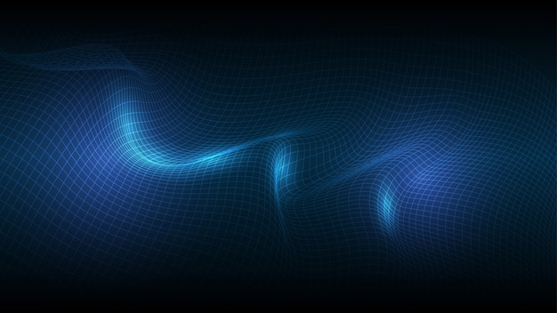 Wireframe line abstract background