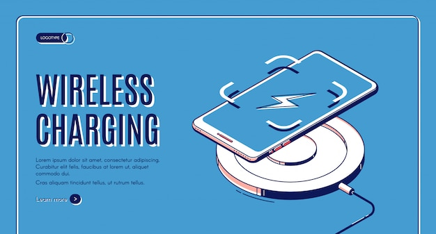 Wireless charging isometric banner
