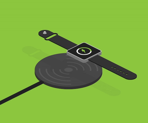 Wireless charging for smart watch.