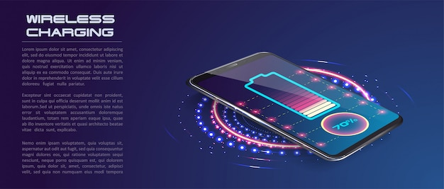 Wireless charging of the smartphone battery