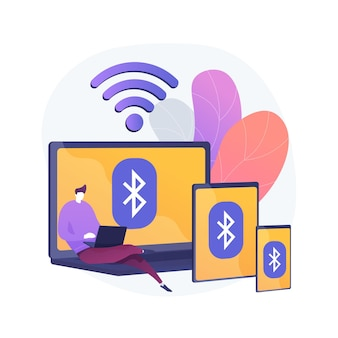 Wireless device connection abstract concept illustration