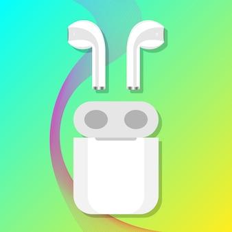 Беспроводные наушники белый зарядный бокс