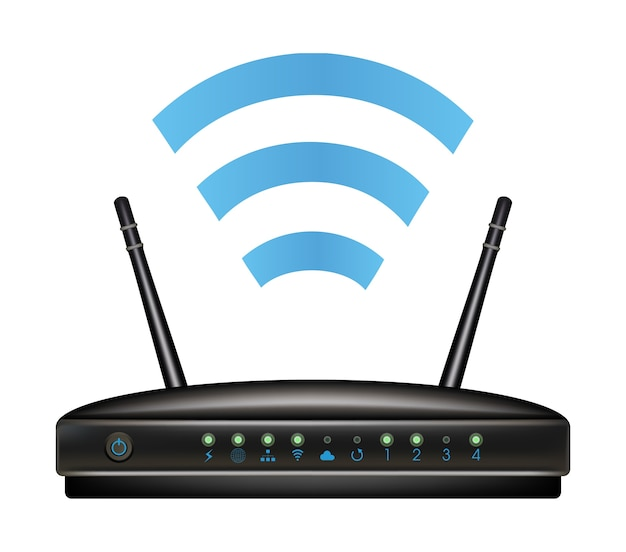 Wireless ethernet modem router