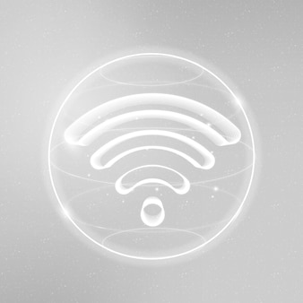 Wireless internet technology icon in white on gradient background