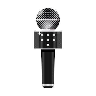 Wireless karaoke microphone with speaker illustration