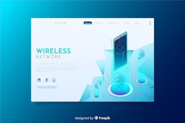 Wireless network landing page