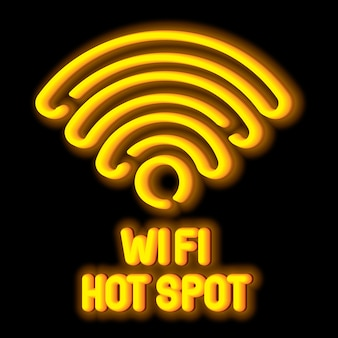 Concetto di simbolo di rete wireless con hot spot wi-fi