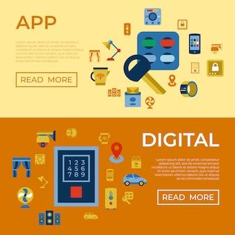 Wireless smart digital home icons