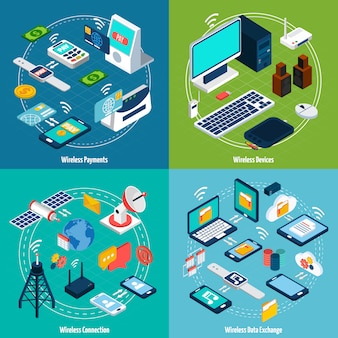 Wireless technologies isometric set